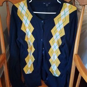 Gap Women's Argyle CardiganSweater
